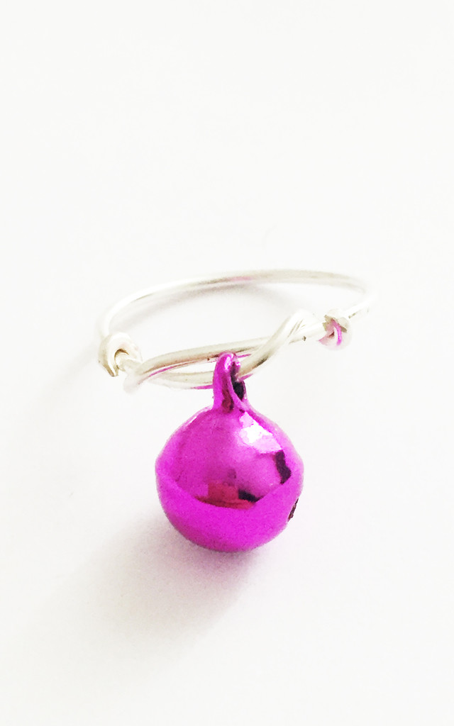 Christmas Bauble Ring Pink by Kat&Bee Jewellery