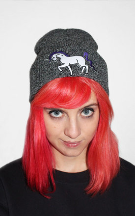 Retro unicorn beanie by Tallulah's Threads Product photo