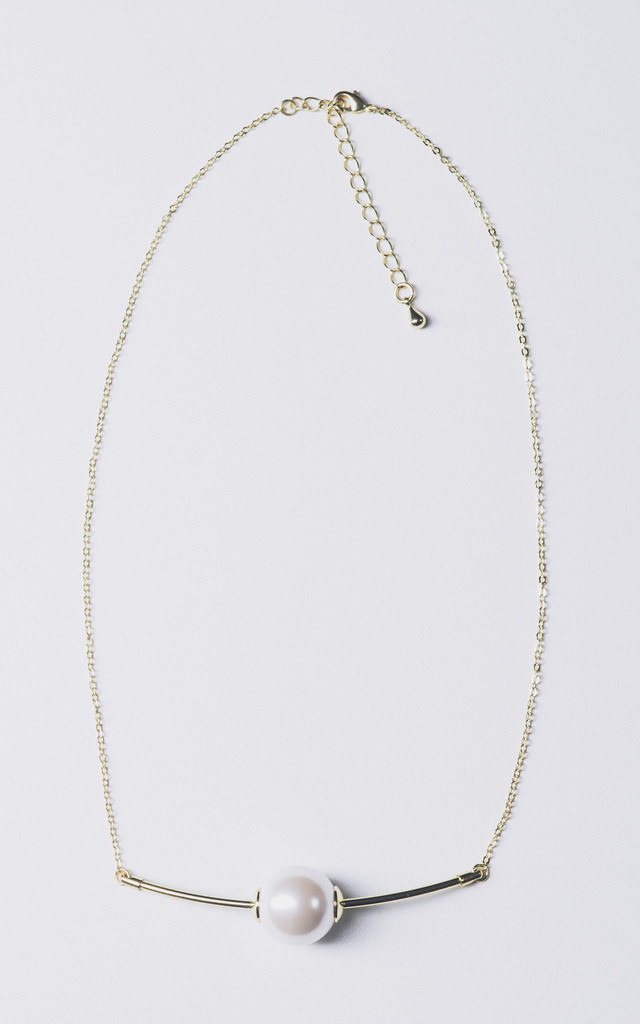 PEARL BALL NECKLACE ON FINE CHAIN by EPITOME JEWELLERY