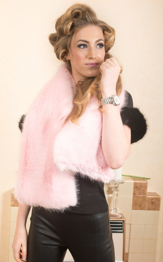 Candy Floss Pink Fluffy Scarf by Daniela D'Amico