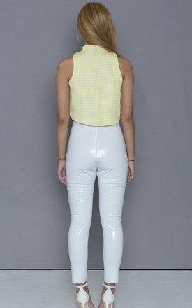 White PVC Trousers by ceekit