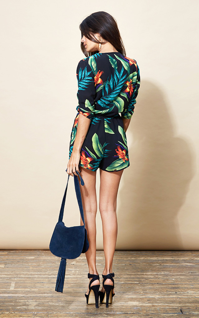 Tiago Playsuit in Black Tropical image
