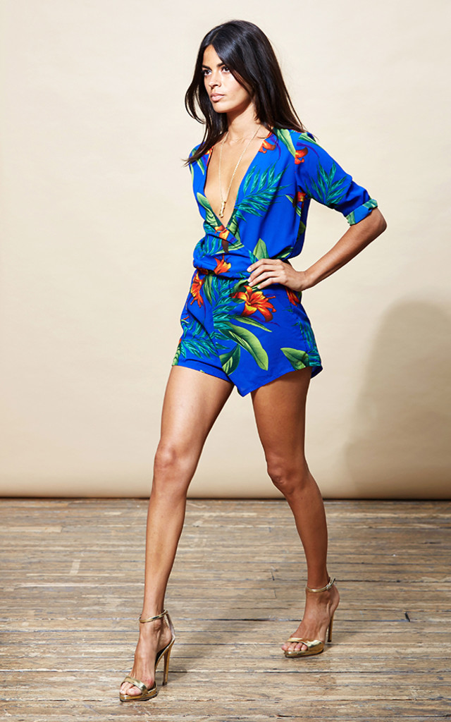 Tiago Playsuit in Blue Tropical image