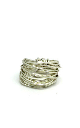 Silver Wire Ring by Black and Sigi Limited