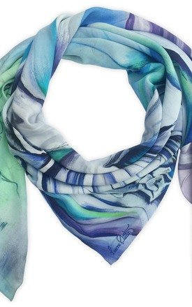 Keshini lilac oversized luxury scarf by Leanne Claxton Product photo