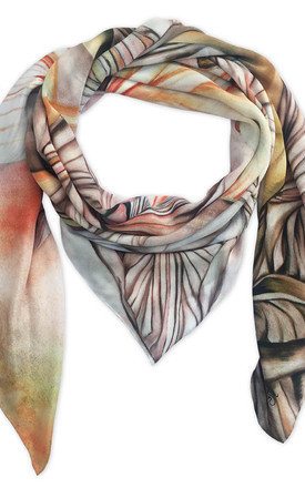 Naula natural oversized luxury scarf  by Leanne Claxton Product photo
