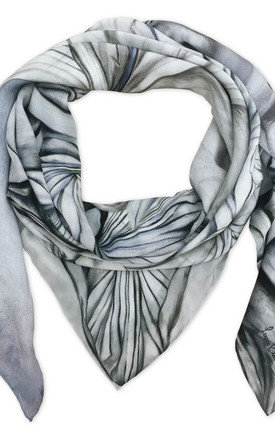 Naula grey oversized luxury scarf  by Leanne Claxton Product photo