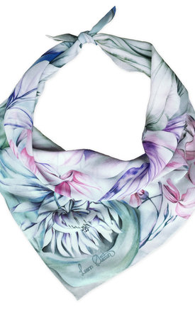 Dinali pink luxury neck scarf  by Leanne Claxton Product photo