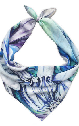 Keshini lilac luxury neck scarf  by Leanne Claxton Product photo