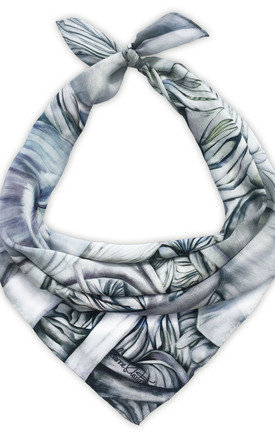 Naula grey luxury neck scarf  by Leanne Claxton Product photo