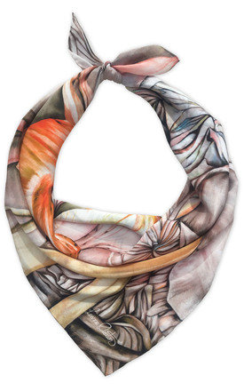 Naula natural luxury neck scarf  by Leanne Claxton Product photo