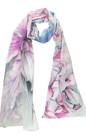 Dinali pink luxury long scarf  by Leanne Claxton Product photo