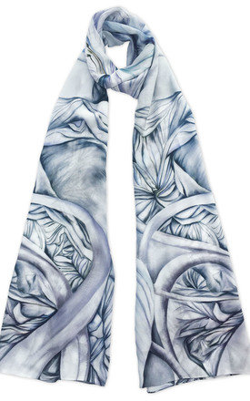 Naula grey luxury long scarf  by Leanne Claxton Product photo