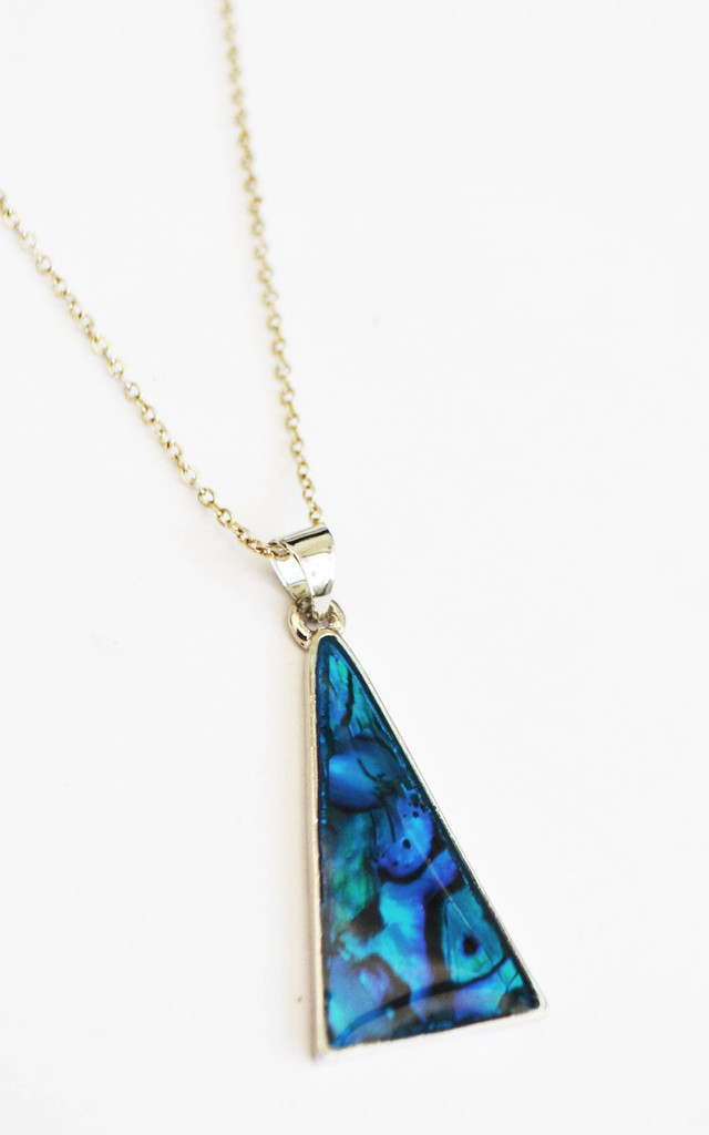 Abalone Teepee Necklace by Wanderdusk
