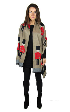 Women's reversible toy soldier scarf by BeachHeart Product photo