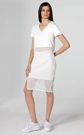 WHITE MESH SKIRT by Lady Zee