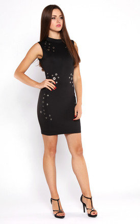 EYELETS DETAILS BODYCON DRESS by Jezzelle