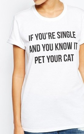 Pet Your Cat T-Shirt by Adolescent Clothing