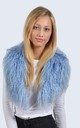 Sky Blue Mongolian Lambswool Collar by Amelia Jane London