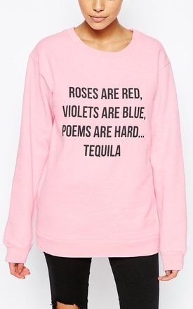 Valentine poem sweatshirt by Adolescent Clothing Product photo