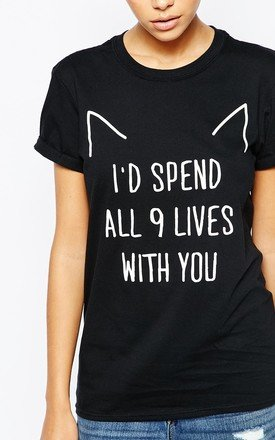 9 Lives T-Shirt by Adolescent Clothing