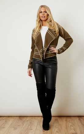 Ivy green short cardigan by VM Product photo