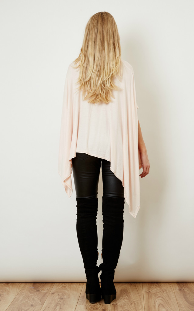 Oversized Jersey Asymmetric Top Pink by Lilah Rose