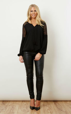 Sheer lace shoulder top by VILA Product photo