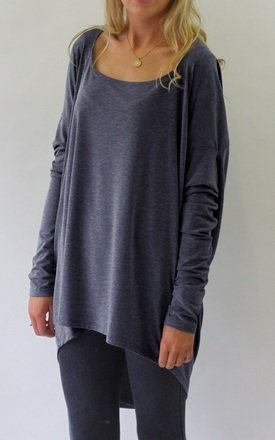 Milly Slouchy Drape Back Top by LagenLuxe