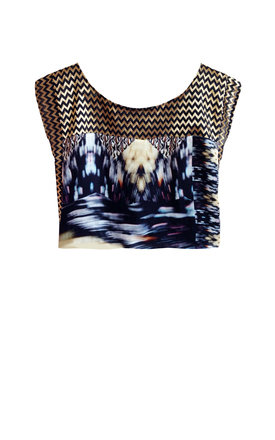 Kei silk print top by Silence Beyond Syllables Product photo