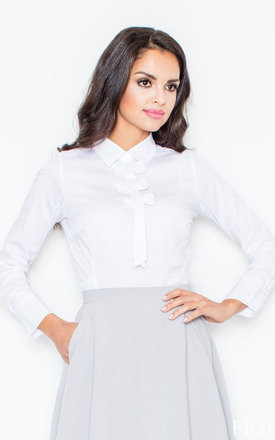 Petite collared vintage bow neck white shirt by FIGL Product photo