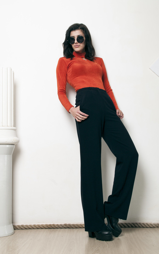 80s vintage high waisted Escada wool trousers by Pop Sick Vintage