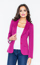 Blazer with Tailored Waist in Magenta Pink by FIGL