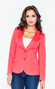 Blazer with Tailored Waist in Coral by FIGL