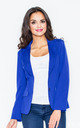 Blazer with Tailored Waist in Cobalt Blue by FIGL