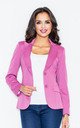 Blazer with Tailored Waist in Ultra Pink by FIGL