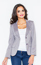 Blazer with Tailored Waist in Grey by FIGL