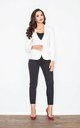 Blazer with Tailored Waist in White by FIGL