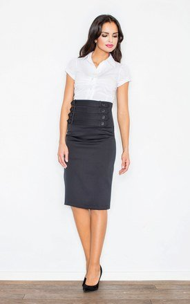 Black skirt with buttons by FIGL Product photo