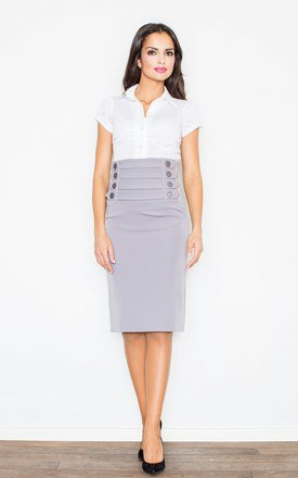 Grey skirt with buttons by FIGL Product photo