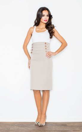 Beige skirt with buttons by FIGL Product photo