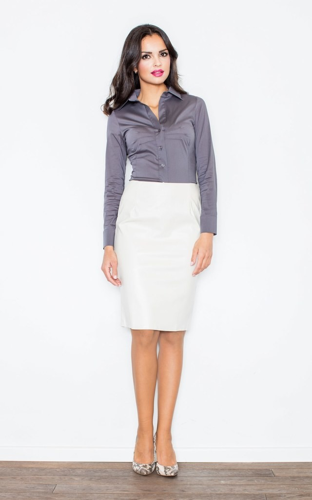 Grey Classic Long Sleeve Shirt by FIGL