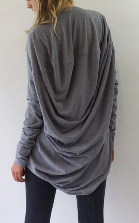 Milly slouchy drape back top by LagenLuxe Product photo