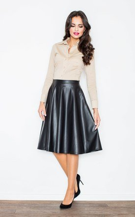 Black flared skirt by FIGL Product photo