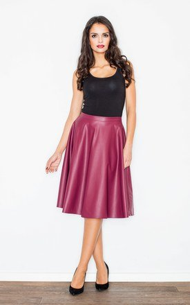Claret flared skirt by FIGL Product photo