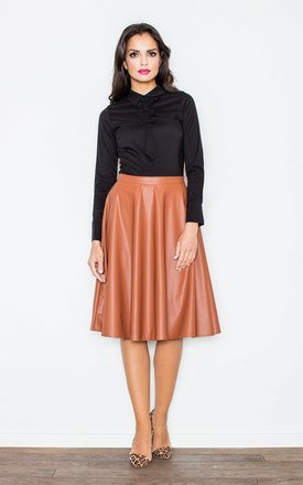 Brown flared skirt by FIGL Product photo