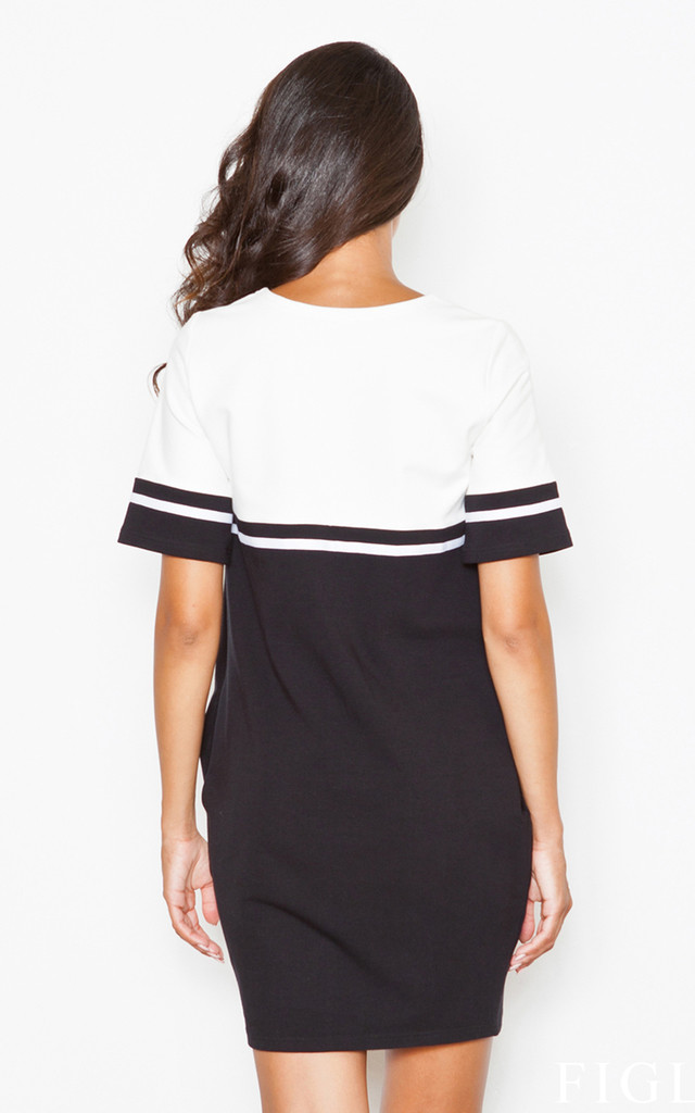 Jumper dress in two tone by FIGL