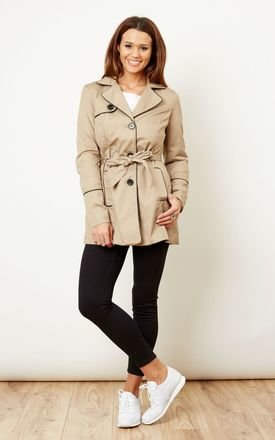 Classic Trench Coat with Black Trim by VM