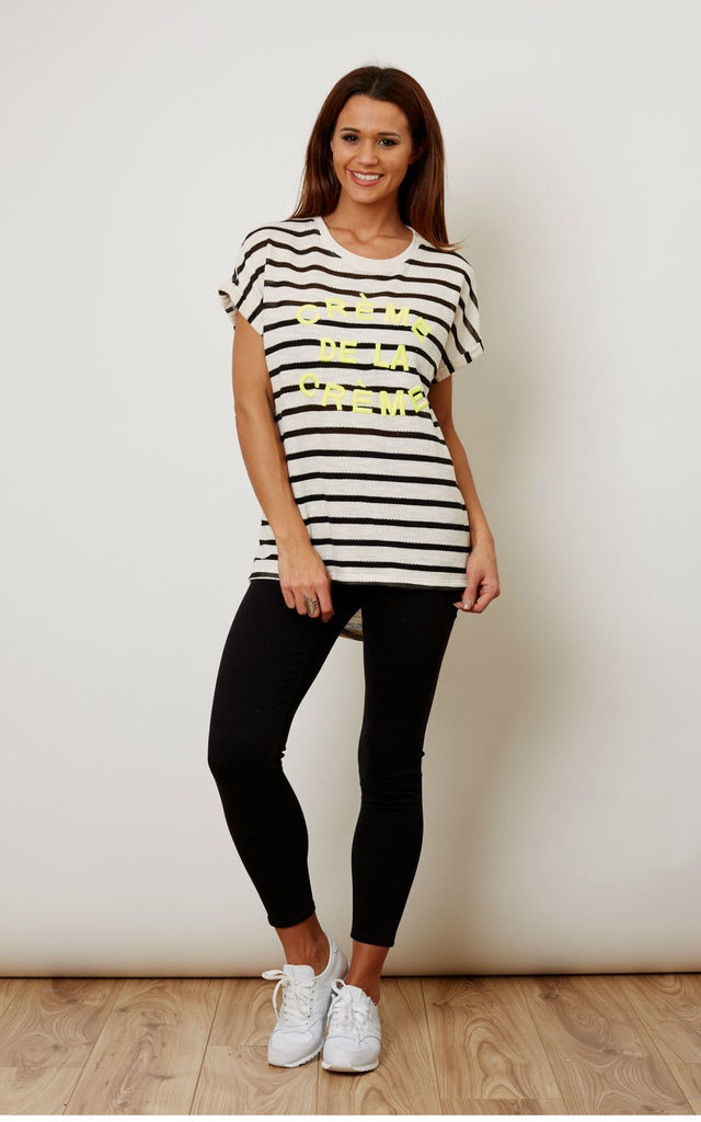 Creme De La Creme Stripe Tshirt by Noisy May