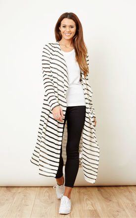 Stripe long cardigan  by Noisy May Product photo